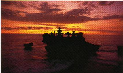Sonnenuntergang am Tanah Lot-Tempel